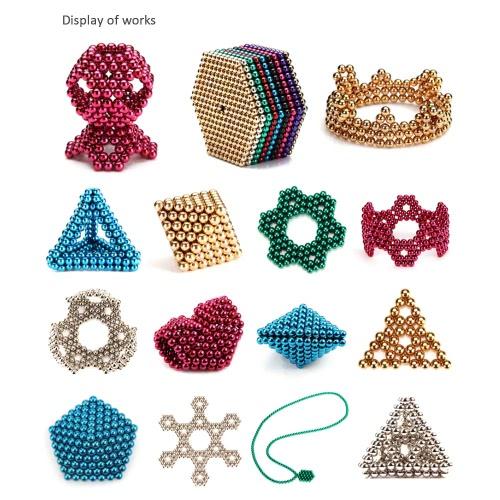 5 mm Magic Beats Magnetic Balls Puzzle Spheres Neodymium Iron DIY Educational Toys 108 Pieces Purple & Deep Grey