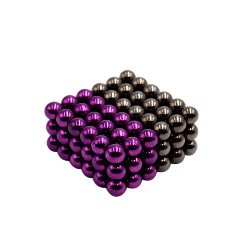 5 mm Magic Beats Magnetic Balls Puzzle Spheres Neodymium Iron DIY Educational Toys 108 Pieces Purple & Deep Grey