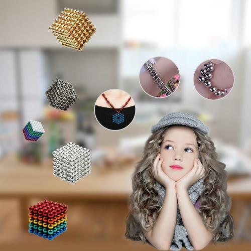 3 mm Magnetic Beats Magnets Magic Balls Puzzle DIY Educational Toy 432 Pieces Deep Grey