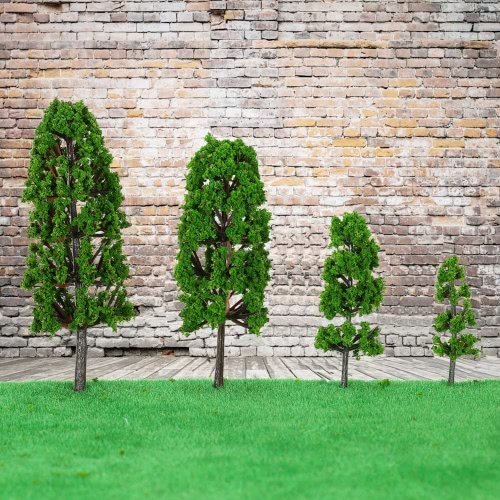 20 Pieces Green Pagodo Tree Model Train Layout Garden Scenery  Landscape Wargame