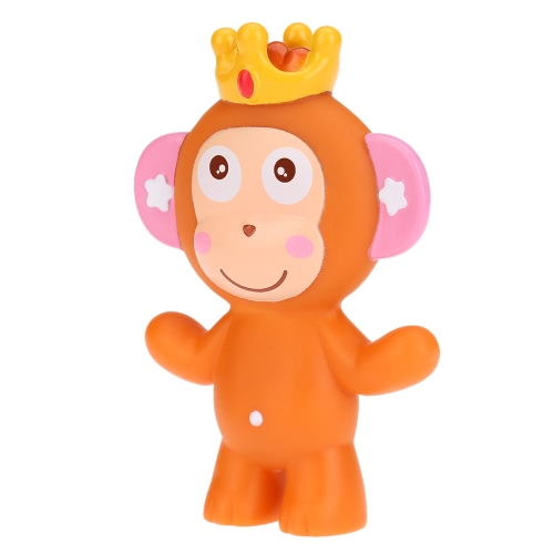 Cute Squeaky Toy Sounding Toy Cartoon Monkey Animal Bath Toy Soft Rubber for Baby Water Fun