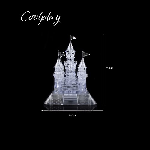 Coolplay 3D Crystal Puzzle Castle Shaped Model Kids Toy  DIY Building Block
