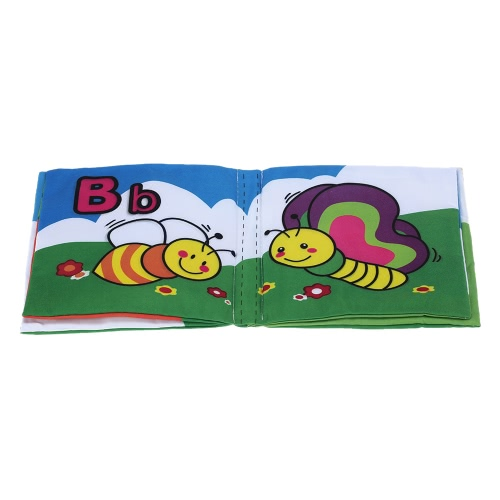 Coolplay Baby's First Fabric Book Washable Soft Cloth Book with a Sounder for Infant Toddler Intellectual Development