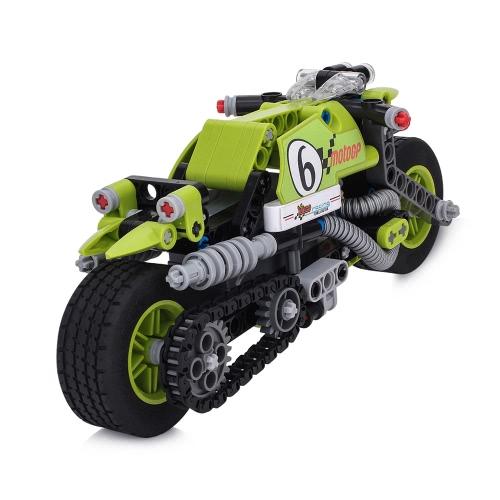 Image of BIOZEA Gebäude Spielzeug Motorrad Baustein Sets 201PSC DIY montieren Vorschule Spielzeug für Jungen und Mädchen pädagogischen Block Spielzeug STUNT KÖNIG