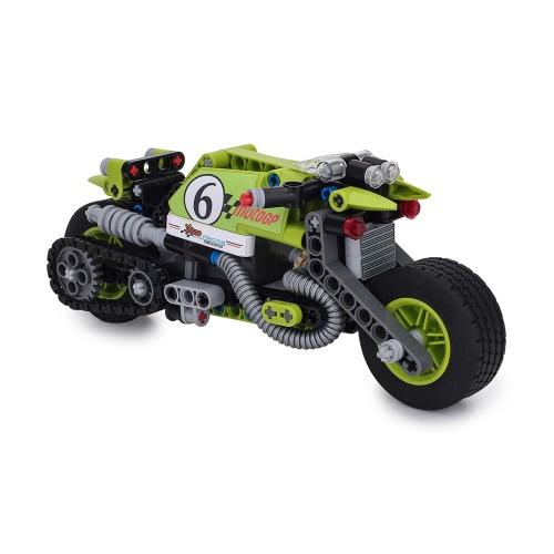 Giocattoli per costruzioni BIOZEA Set di blocchi per costruzioni per motociclette 201PSC Bricolage Assemblare i giocattoli per bambini e ragazze Educational Block Toy STUNT KING