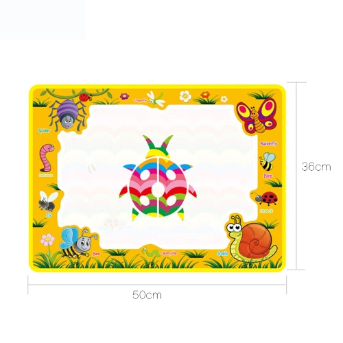 Aqua Doodle Water Drawing Mat Painting Travel Board with Magic Pen for Kids Art Education
