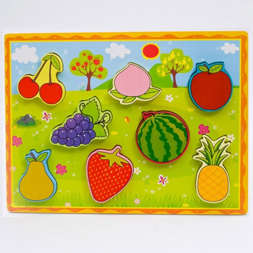 Wooden Pet Peg Puzzle Board Hand Knob Peg Puzzle Hölzerne Chunky Puzzle Early Educational Develoment Spielzeug für Kinder