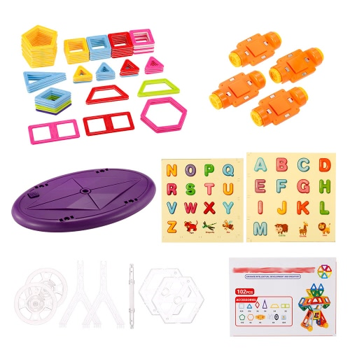 XINBIDA 718 102PCS Magnet Building Magnetic Blocks Construction Educational Toys for Kids