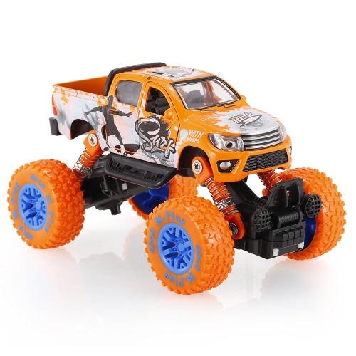 Classic Pull Back Auto 1/30 Alloy 4WD Big Wheels Schock Resistant Off Road Klettern Auto 2 Türen Open Pull Back Fahrzeug Spielzeug LKW
