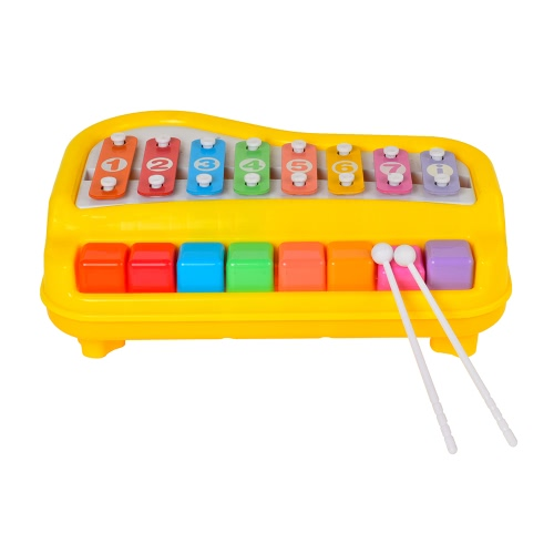 Baoli Happy Marimba 2 in 1 Piano and Xylophone Toy Musical Instruments Gift for Kids