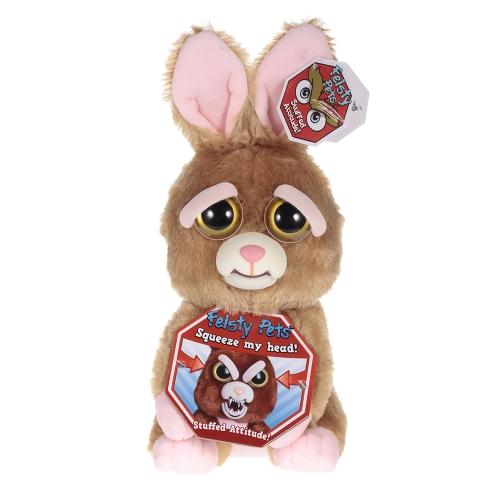 Feisty Haustiere Sir Vicky Vicious Feisty Filme Entzückende Plüsch Stofftier Bunny dreht Feisty mit einem Squeeze