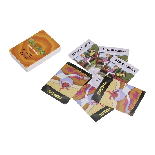 Rick and Morty Total Rickall Cooperative Card Game Party Graj w karty