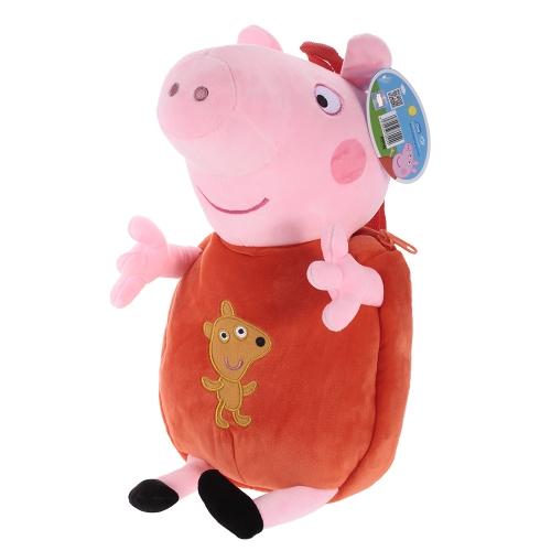 オリジナルブランドPeppa Pig 44cm Peppaキッズバッグリュックサックぬいぐるみぬいぐるみファミリーパーティークリスマス新年の贈り物