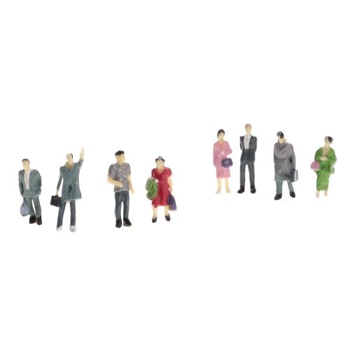 50 Stücke 1: 30 Scale Painted Modell Menschen Zug Passagiere Zahlen