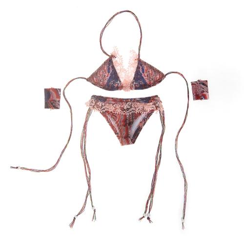 1/6セクシーな下着ビーチウェア12インチ女性のアクションフィギュアのおもちゃのためのビキニセット