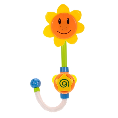 Baby Bath Toys Children Sunflower Spray Water Shower Faucet Bathing Tub Fountain for Kids