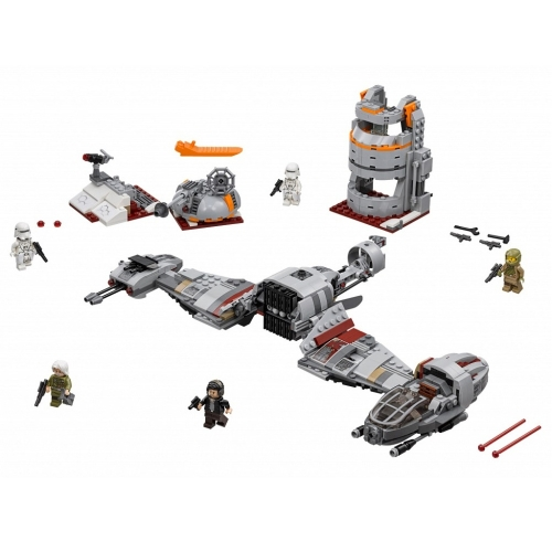 Scatola originale LEPIN 05141 836 pz Serie Star Wars Difesa di Crait Spaceship Building Block Kit Set