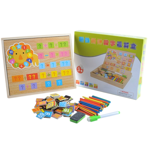 Wooden Counting Sticks Arithmetic Box Mathematics Learning Educational Toys with Counting Rods and Writingboard