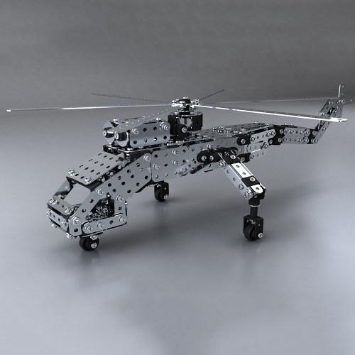 660 Stücke Heavy Lift Hubschrauber Intelligente Bau Set 3D Edelstahl Modell Kit DIY Geschenk Modellbau Lernspielzeug