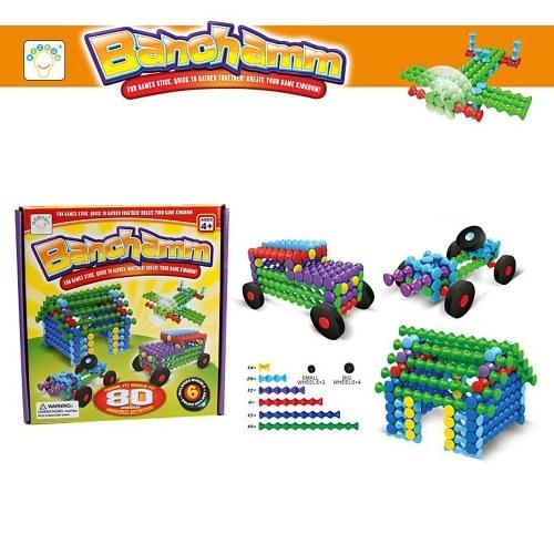 80 Stücke Bausteine Set Kreative Konstruktion Technik Spaß Pädagogisches Spielzeug Beste Spielzeug Geschenk für Kinder