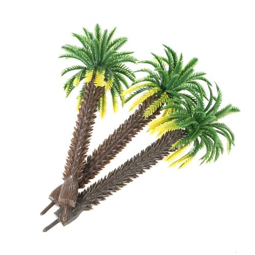 12pcs Layout Model Train Coconut Trees Foresta pluviale Miniature Landscape Scenery Scale 1: 65-1: 150