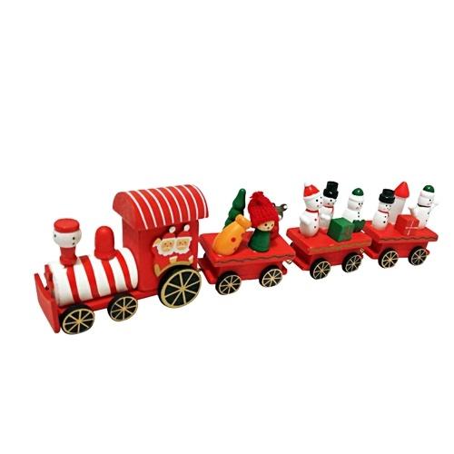 Mini TraiWooden de madera Mini tren Juguete Santa Claus n Juguete Santa Claus