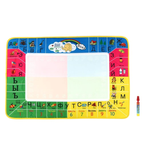 Non-toxic Water Drawing Mat Board Painting and Writing Doodle With Magic Pen for Baby Kids 72 * 48 CM