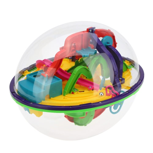 3D Spherical Maze Intellect Ball Balance Game Magical Puzzle with 208 Barriers Educational Toy
