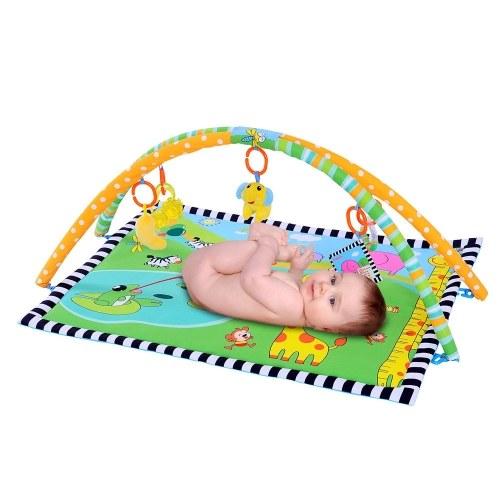 Ametoys bébé tapis de jeu doux rembourré coussin tapis lavable couverture motif animal 90 * 66 CM