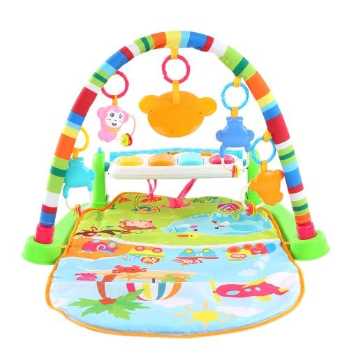 Multifunktionale Treten und die Klavier spielen Gym Klavier Bodybuildingraum mit Blinklichter für Kinder Baby-Kind-Intelligenz pädagogisches Spielzeug