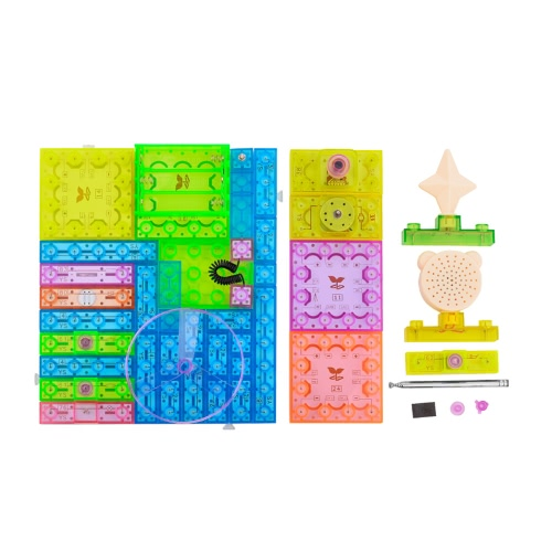 120 Projects DIY Kits Integrated Circuit Building Blocks Electronic Playground Educatioal Toy Plastic Model Kits Science Kids Toy
