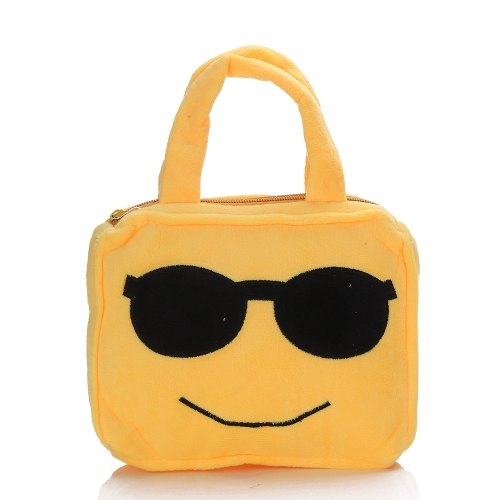 かわいい絵文字顔文字のショルダーバッグスクールバッグ子供の村のぬいぐるみのおもちゃのハンドバッグスクールバッグ財布サッチェル子供のための少年少年ギフト6#