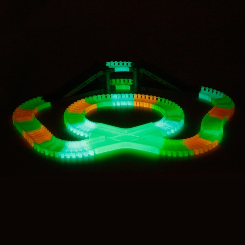 YA ZHI QI 868-163 166PCS 55mm Twister Tracks Flexible Assembly Neon Glow