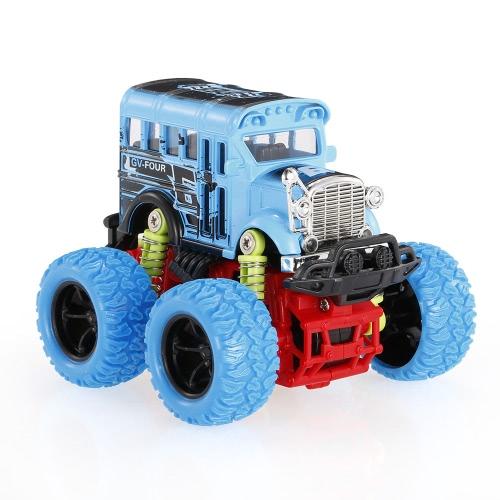 1:34慣性車のおもちゃオフロード車4WD合金ビッグホイール耐衝撃慣性車カラフルな摩擦駆動の車のおもちゃ