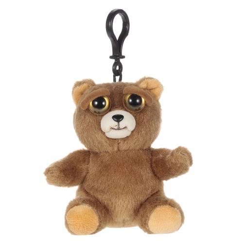 Feisty Haustiere Mini Einhorn Glenda Glitterpoop Schlüsselanhänger Entzückendes Plüsch Stofftier macht Feisty mit einem Squeeze