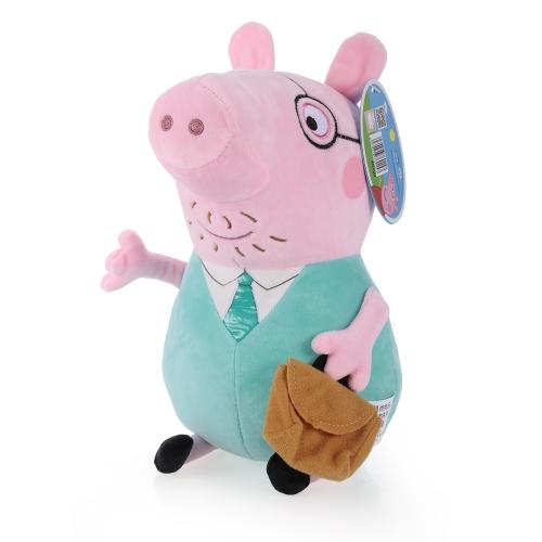 オリジナルブランドPeppa Pig 30cmのおもちゃのぬいぐるみ家族パーティードール子供のためのクリスマス新年の贈り物