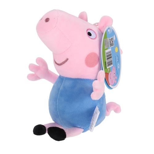 オリジナルブランドPeppa Pig 19cmブラザージョージバッグペンダントキーホルダーぬいぐるみぬいぐるみファミリーパーティークリスマス新年ギフト