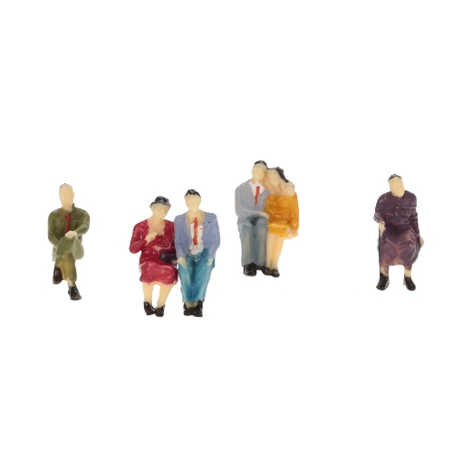 50Pcs 1:30 Escala pintada modelo personas tren pasajeros figuras