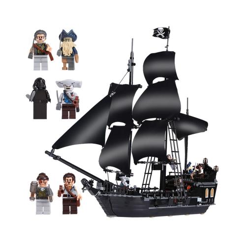 LEPIN 16006 804pcs Movie Series Pirates of the Caribbean Black Pearl Model Building Blocks Bricks Kit Set - Plastic Bag Packaged