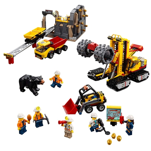 LEPIN 02102 989 unids City Series Mining Experts Sitio Modelo Building Blocks Bricks Kit