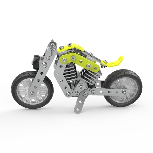 158Pcs Военный мотоцикл Intelligent Construction Set 3D Нержавеющая сталь Модельный комплект DIY Gift Model Building Обучающие игрушки
