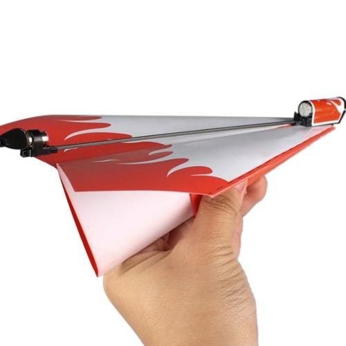 Funny Paper Paper Samolot Launcher Conversion DIY Kit Zabawki edukacyjne Dzieci Brain Training Engineering and Mechanics Toy Losowo dostawy