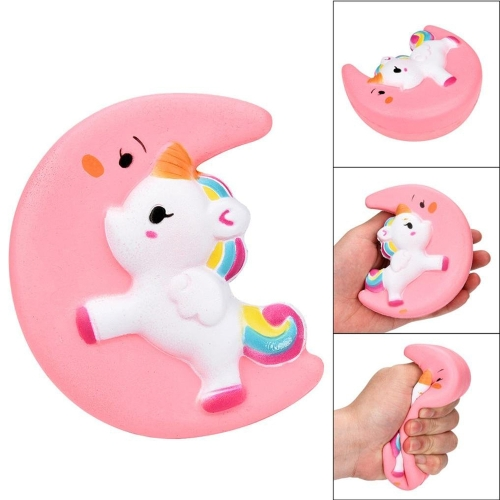 Squishy Langsam steigende rosa Mond Einhorn Sammlung Geschenk Dekor lustiges Spielzeug