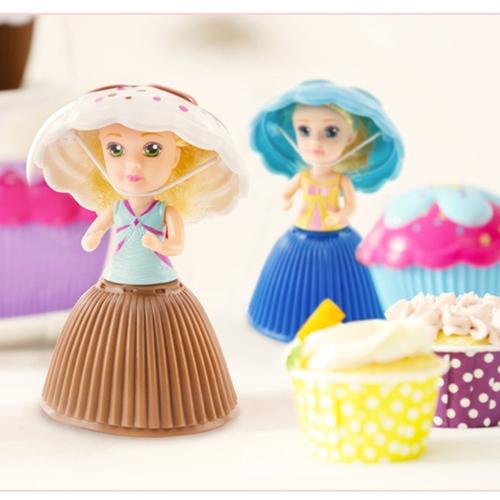Fashion Cartoon Lovely Surprise Cupcake Princess Doll Mini Beautiful Cute Cake Doll Toys Birthday Present for Girls