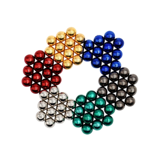 Multi-colored 5 mm NdFeB Magnetic Balls Magic Beads Spheres Puzzle Educational Toy 72 Pieces