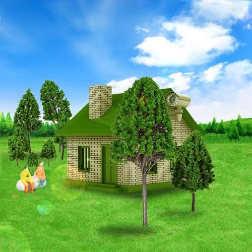 手作りポプラ木モデル建築モデル鉄道レイアウト庭風景シーン ウォーゲーム風景 12 個セット