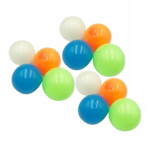 12Pcs Stick Wall Balls Sticky Target Ball Fluorescent Ceiling Ball Anti-stress Decompression Toy