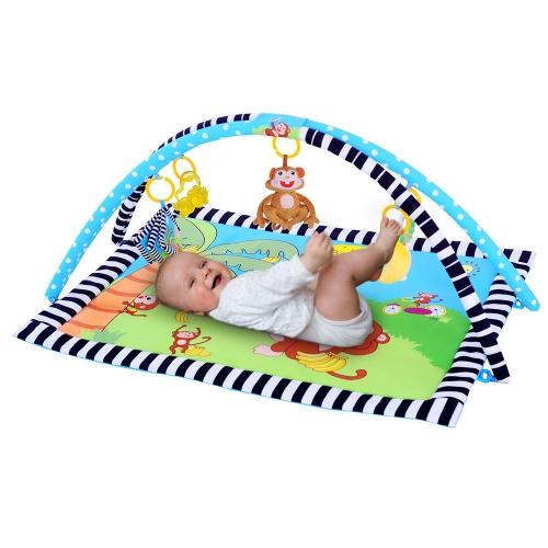 Аметоны Baby Playing Mat Мягкие мягкие подушечные ковры Моющиеся одеяла 90 * 66 CM