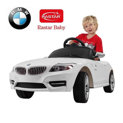 Rastar bambini 6V elettrico Ride On Parent Toy Car BMW Z4 a quattro ruote di veicoli a distanza bianco di controllo