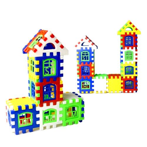 24 sztuk Baby House Building Blocks Construction Toy Kids Brain Game Learning Zabawki edukacyjne dla dzieci